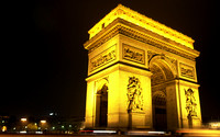 Arc de Triumph at night