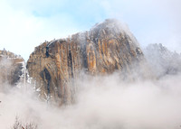 Yosemite  in Snow and Fog
