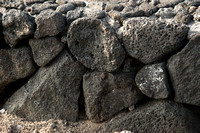 Lava rock wall