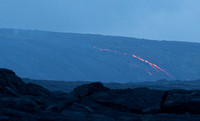 Lava glowing well in the distance