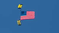 US Navy Parachute Team Flag Jump